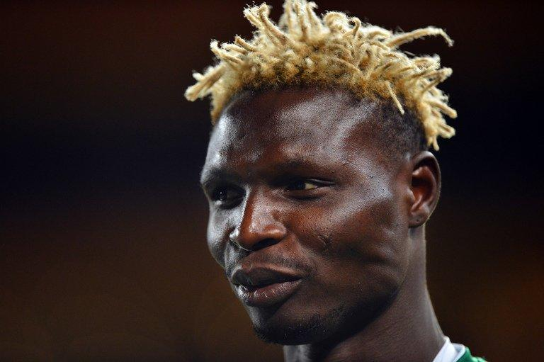 Burkina Faso's national football team forward Aristide Bance at Soccer City in Soweto, South Africa on February 9, 2013