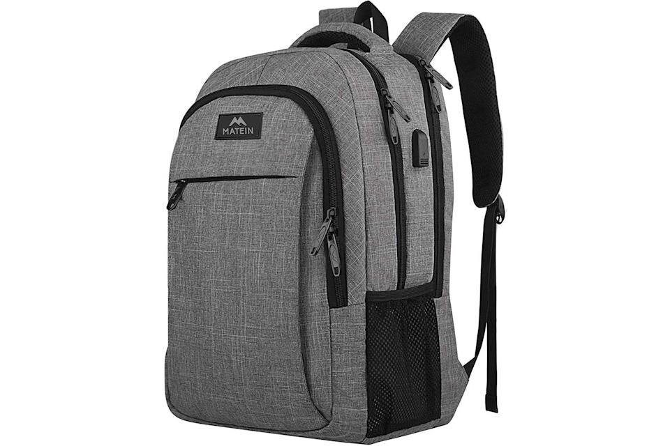 Matein Travel Laptop Backpack in gray