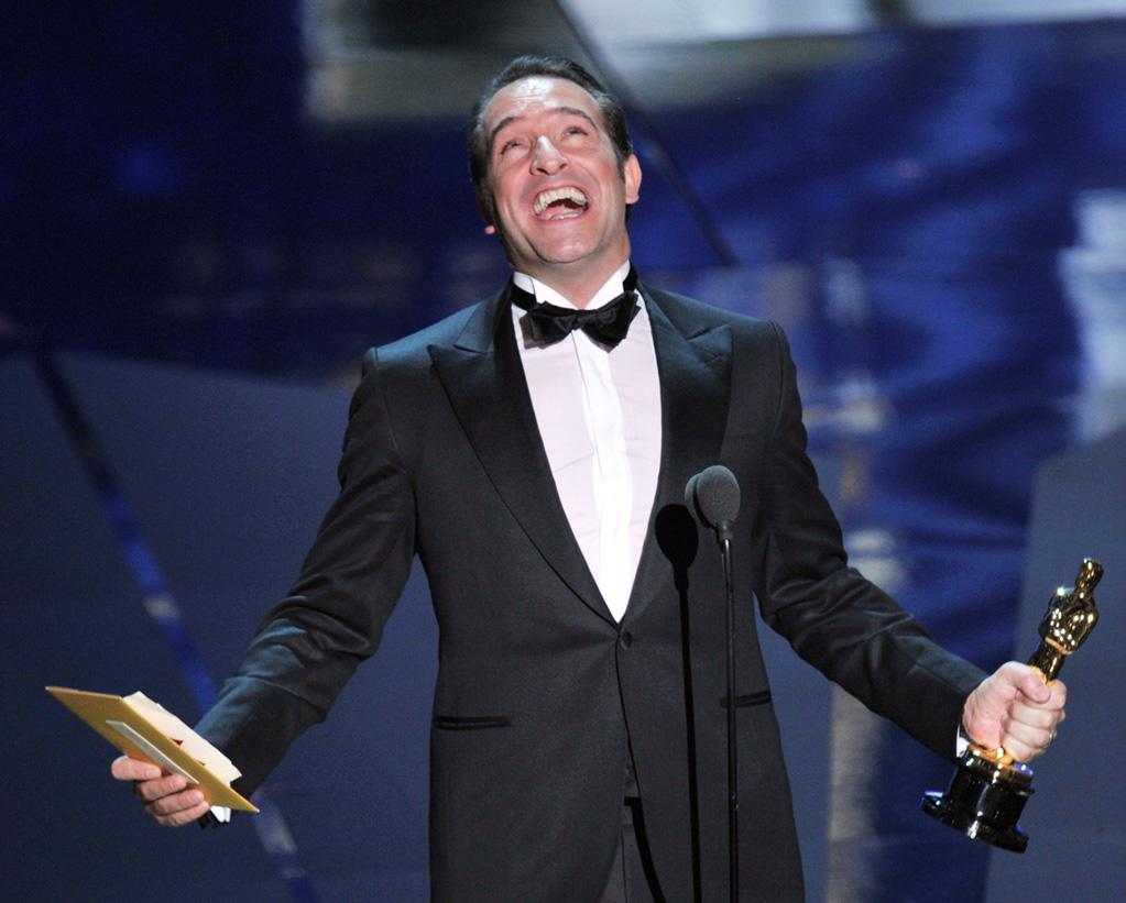 Jean Dujardin on stage during the 84th Annual Academy Awards in Hollywood, CA.