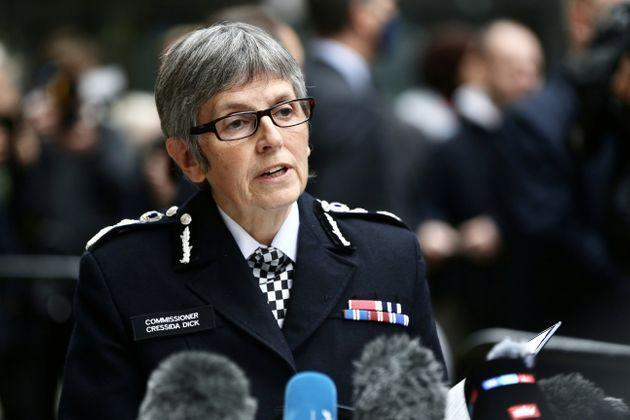 Metropolitan Police chief Cressida Dick speaks to press after Wayne Couzens was sentenced to life in prison for the murder of 33-year-old Sarah Everard. (Photo: Anadolu Agency via Getty Images)