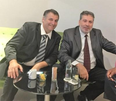 Right: Zeev Peretz, Law school graduate, 30 years of experience of management public and private, commercial and industries companies. Left: Laser Rothstein 30 years of experience in technological development in the field of Hi-Tech and in renewable energy market. (PRNewsfoto/Yam Pro Energy)