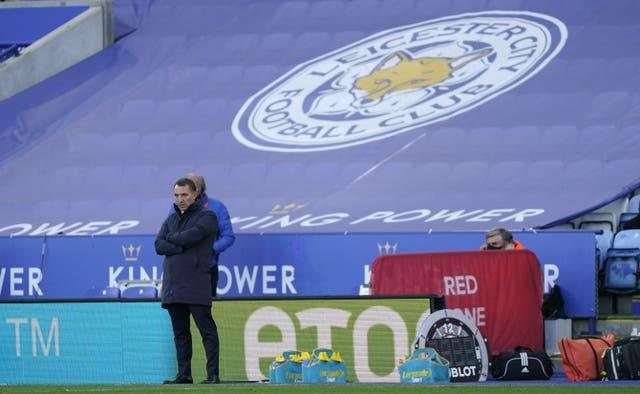 Brendan Rodgers watched his side suffer defeat