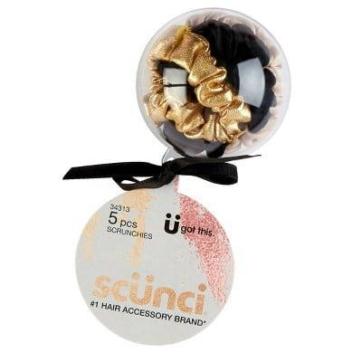 <p>The <span>Scunci Mini Scrunchies in Ornament Ball</span> ($5) is almost too cute to open, but the festive scrunchies inside will make someone want to break into it ASAP.</p>