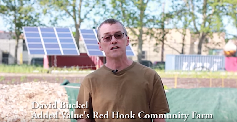 "David Buckel, a volunteer for Brooklyn's Added Value Red Hook Community Farm, was featured in an educational <a href=""https://www.youtube.com/watch?v=-lDLC3X4Yyk"" target=""_blank"">video</a> on composting. (YouTube/Added Value)"