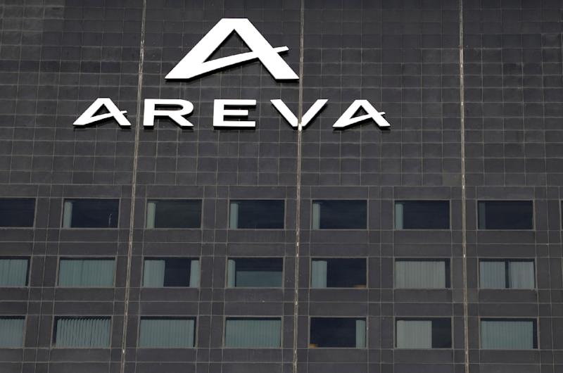 French nuclear group Areva confirmed Wednesday record net losses in 2014 of 4.8 billion euros ($5.3 billion) after it was forced to absorb costs linked to delays to its flagship next-generation reactor (AFP Photo/Eric Piermont)