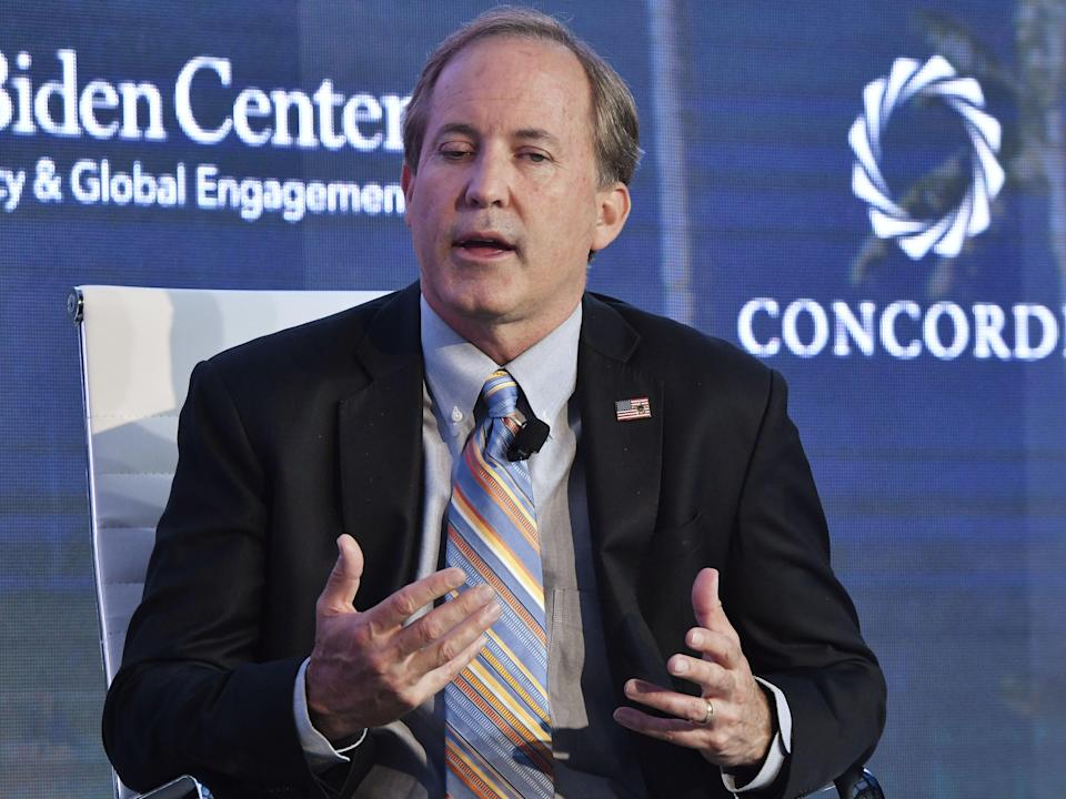 <p>Ken Paxton, Attorney General State of Texas attends the forum 'Partnerships to Eradicate Human Trafficking in the Americas' at the 2019 Concordia Americas Summit on 14 May 2019 in Bogota, Colombia</p> ((Getty Images for Concordia Summit))