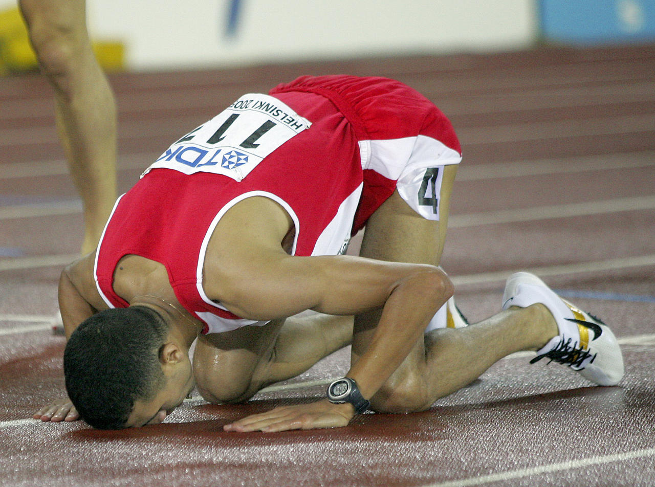 Moroccan-Bahraini runner Rashid Ramzi lost his gold medal in the 1,500-meter race from the 2008 Beijing Games after it was discovered he tested positive for the blood-boostin drug CERA, which stands for continuous erythropoietin receptor activator. (AP Photo/Martin Meissner)