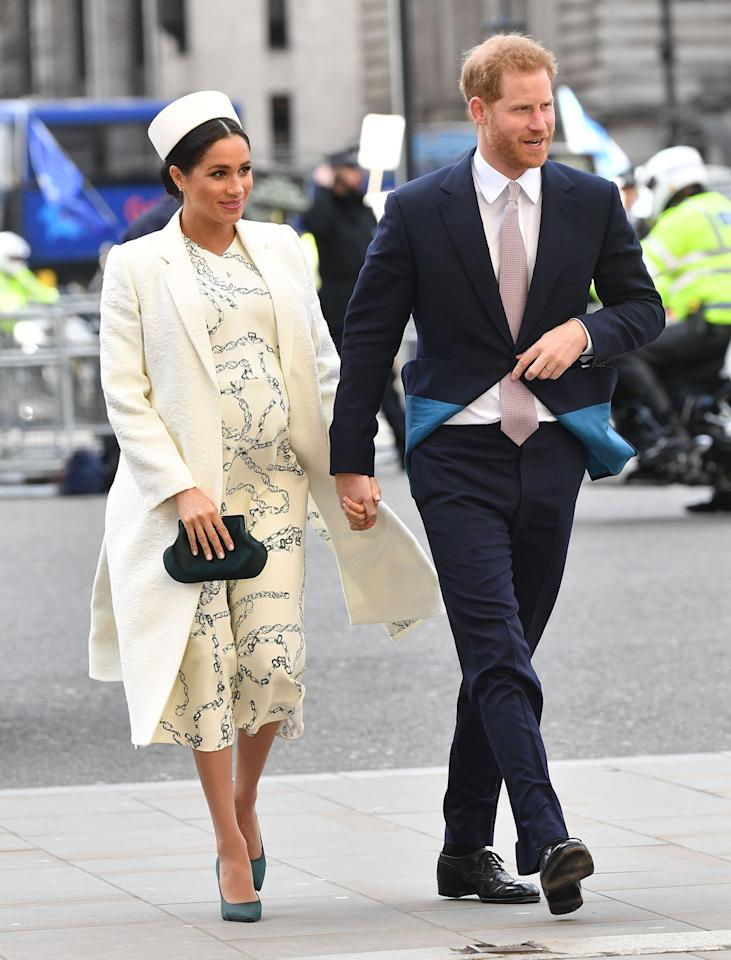 "Meghan made <a href=""https://people.com/royals/meghan-markle-kate-middleton-prince-harry-prince-william-westminster-abbey-commonwealth-day/"">a quick change for church</a>, attending alongside Queen Elizabeth and the Duke and Duchess of Cambridge. She changed into a cream coat and <a href=""https://click.linksynergy.com/deeplink?id=93xLBvPhAeE&mid=42352&murl=https%3A%2F%2Fwww.shopbop.com%2Fvictoria-beckham%2Fbr%2Fv%3D1%2F31639.htm&u1=PEO%2CShopping%3AEverythingYouNeedtoCopyMeghanMarkle%27sChicSummerStyle%2Ckamiphillips2%2CUnc%2CGal%2C6939680%2C201907%2CI"" target=""_blank"" rel=""nofollow"">Victoria Beckham dress</a> for the Commonwealth Service.   <strong>Get the look! </strong>  Something Navy Grand Lapel Coat, $89.40 (orig. $149); <a href=""https://click.linksynergy.com/deeplink?id=93xLBvPhAeE&mid=1237&murl=https%3A%2F%2Fshop.nordstrom.com%2Fs%2Fsomething-navy-grand-lapel-coat-nordstrom-exclusive%2F5020215&u1=PEO%2CShopping%3AEverythingYouNeedtoCopyMeghanMarkle%27sChicSummerStyle%2Ckamiphillips2%2CUnc%2CGal%2C6939680%2C201907%2CI"" target=""_blank"" rel=""nofollow"">nordstrom.com</a>  ASOS DESIGN Petite Waterfall Collar Coat with Tie Belt, $111; <a href=""https://click.linksynergy.com/deeplink?id=93xLBvPhAeE&mid=35719&murl=https%3A%2F%2Fus.asos.com%2Fasos-petite%2Fasos-design-petite-waterfall-collar-coat-with-tie-belt%2Fprd%2F9501963&u1=PEO%2CShopping%3AEverythingYouNeedtoCopyMeghanMarkle%27sChicSummerStyle%2Ckamiphillips2%2CUnc%2CGal%2C6939680%2C201907%2CI"" target=""_blank"" rel=""nofollow"">asos.com</a>  Modern Trench Coat, $150; <a href=""https://click.linksynergy.com/deeplink?id=93xLBvPhAeE&mid=42157&murl=https%3A%2F%2Fwww.loft.com%2Fmodern-trench-coat%2F486713&u1=PEO%2CShopping%3AEverythingYouNeedtoCopyMeghanMarkle%27sChicSummerStyle%2Ckamiphillips2%2CUnc%2CGal%2C6939680%2C201907%2CI"" target=""_blank"" rel=""nofollow"">loft.com</a>  ORICSSON Womens Short Sleeve Mother and Daughter Dress Floral Printed Dress with Side Pockets, $5.34–$20.99; <a href=""https://www.amazon.com/ORICSSON-Womens-Daughter-Printed-Pockets/dp/B07CVFJK1F?ie=UTF8&camp=1789&creative=9325&linkCode=as2&creativeASIN=B07CVFJK1F&tag=people0d0-20&ascsubtag=b06b2910c4a4ffe5601df74971d5b856"" target=""_blank"" rel=""nofollow"">amazon.com</a>  Moon River Polka Dot Midi Dress, $104; <a href=""https://click.linksynergy.com/deeplink?id=93xLBvPhAeE&mid=42352&murl=https%3A%2F%2Fwww.shopbop.com%2Fpolka-dot-midi-dress-moon%2Fvp%2Fv%3D1%2F1534910846.htm&u1=PEO%2CShopping%3AEverythingYouNeedtoCopyMeghanMarkle%27sChicSummerStyle%2Ckamiphillips2%2CUnc%2CGal%2C6939680%2C201907%2CI"" target=""_blank"" rel=""nofollow"">shopbop.com</a>  Alexis Lydia Printed Tie-Neck Shift Dress, $434; <a href=""https://click.linksynergy.com/deeplink?id=93xLBvPhAeE&mid=25003&murl=https%3A%2F%2Fwww.neimanmarcus.com%2Fp%2Falexis-lydia-printed-tie-neck-shift-dress-prod215060030&u1=PEO%2CShopping%3AEverythingYouNeedtoCopyMeghanMarkle%27sChicSummerStyle%2Ckamiphillips2%2CUnc%2CGal%2C6939680%2C201907%2CI"" target=""_blank"" rel=""nofollow"">neimanmarcus.com</a>  LifeStride Sevyn Heels, $59.94; <a href=""http://www.anrdoezrs.net/links/8029122/type/dlg/sid/PEO,Shopping:EverythingYouNeedtoCopyMeghanMarkle'sChicSummerStyle,kamiphillips2,Unc,Gal,6939680,201907,I/https://www.zappos.com/p/lifestride-sevyn-sky-blue-ecomicrosuede/product/8751166/color/809306"" target=""_blank"" rel=""nofollow"">zappos.com</a>  MICHAEL Michael Kors Lisa Pump, $69.97 (orig. $110); <a href=""https://www.pntrac.com/t/8-10134-131940-120793?sid=PEO%2CShopping%3AEverythingYouNeedtoCopyMeghanMarkle%27sChicSummerStyle%2Ckamiphillips2%2CUnc%2CGal%2C6939680%2C201907%2CI&url=https%3A%2F%2Fwww.nordstromrack.com%2Fshop%2Fproduct%2F2704210%3Fcolor%3DLUXE%20TEAL"" target=""_blank"" rel=""nofollow"">nordstromrack.com</a>  Naturalizer Beverly Pump in Deep Sapphire Suede, $98.95–$99.95; <a href=""https://click.linksynergy.com/deeplink?id=93xLBvPhAeE&mid=1237&murl=https%3A%2F%2Fshop.nordstrom.com%2Fs%2Fnaturalizer-beverly-pump-women%2F5112374&u1=PEO%2CShopping%3AEverythingYouNeedtoCopyMeghanMarkle%27sChicSummerStyle%2Ckamiphillips2%2CUnc%2CGal%2C6939680%2C201907%2CI"" target=""_blank"" rel=""nofollow"">nordstrom.com</a>  Club Rochelier Metallic Pleated Hard Frame Clutch, $51.74 (orig. $68.99); <a href=""http://ebags.evyy.net/c/249354/207595/3588?subId1=PEO%2CShopping%3AEverythingYouNeedtoCopyMeghanMarkle%27sChicSummerStyle%2Ckamiphillips2%2CUnc%2CGal%2C6939680%2C201907%2CI&u=https%3A%2F%2Fwww.ebags.com%2Fproduct%2Fclub-rochelier%2Fmetallic-pleated-hard-frame-clutch%2F372769"" target=""_blank"" rel=""nofollow"">ebags.com</a>  Nordstrom Metallic Box Clutch in Navy, $79; <a href=""https://click.linksynergy.com/deeplink?id=93xLBvPhAeE&mid=1237&murl=https%3A%2F%2Fshop.nordstrom.com%2Fs%2Fnordstrom-metallic-box-clutch%2F4611743&u1=PEO%2CShopping%3AEverythingYouNeedtoCopyMeghanMarkle%27sChicSummerStyle%2Ckamiphillips2%2CUnc%2CGal%2C6939680%2C201907%2CI"" target=""_blank"" rel=""nofollow"">nordstrom.com</a>  Barney's New York Satin Minaudière, $150; <a href=""https://click.linksynergy.com/deeplink?id=93xLBvPhAeE&mid=38359&murl=https%3A%2F%2Fwww.barneys.com%2Fproduct%2Fbarneys-new-york-satin-minaudi-c3-a8re-505485623.html&u1=PEO%2CShopping%3AEverythingYouNeedtoCopyMeghanMarkle%27sChicSummerStyle%2Ckamiphillips2%2CUnc%2CGal%2C6939680%2C201907%2CI"" target=""_blank"" rel=""nofollow"">barneys.com</a>"