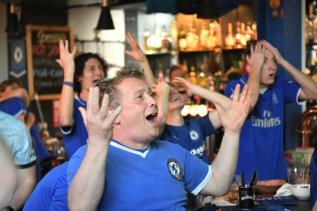 Chelsea fans react to the German's miss