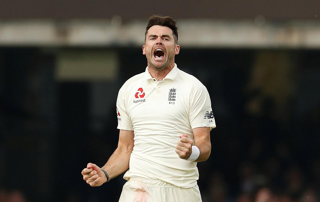 Cricket - England vs Pakistan - First Test - Lord's Cricket Ground, London, Britain - May 25, 2018   England's James Anderson celebrates taking the wicket of Pakistan's Faheem Ashraf   Action Images via Reuters/John Sibley