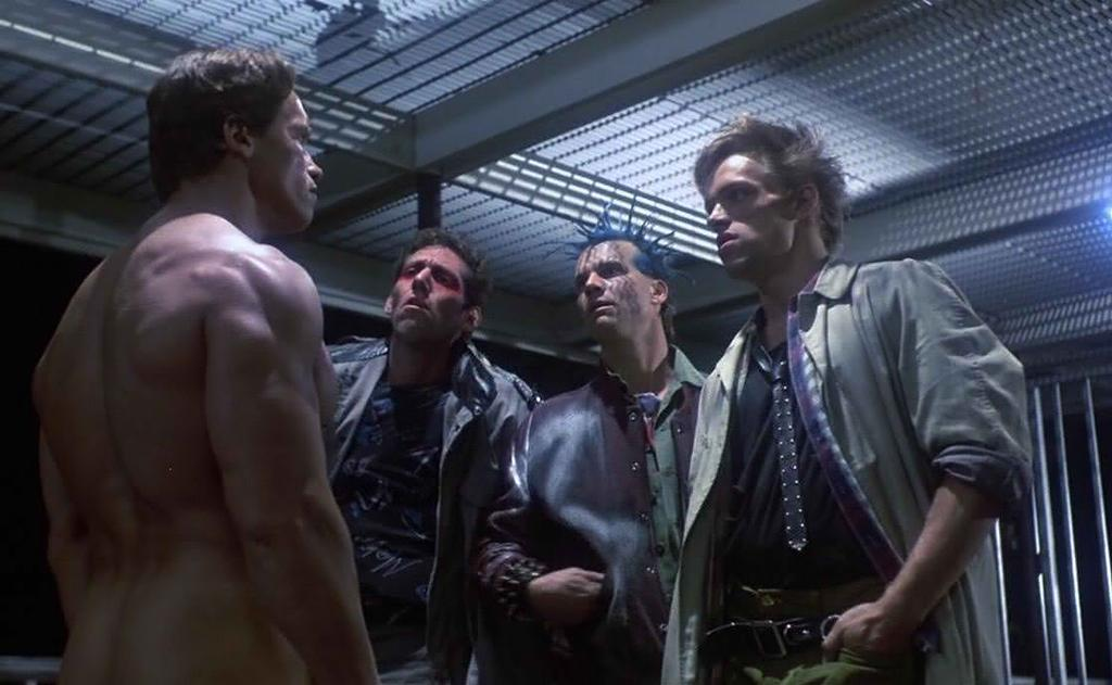 <p>The actor had a bit part in James Cameron's classic sci-fi thriller as a punk who messes with Arnold Schwarzenegger's Terminator — withpredictable results. (Photo: Orion Pictures) </p>