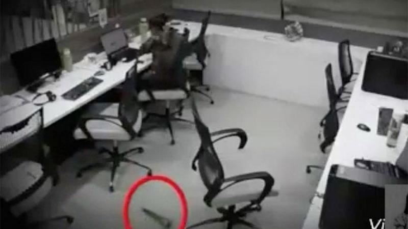She freaks out when a glass bottle falls to the floor. Photo: Facebook