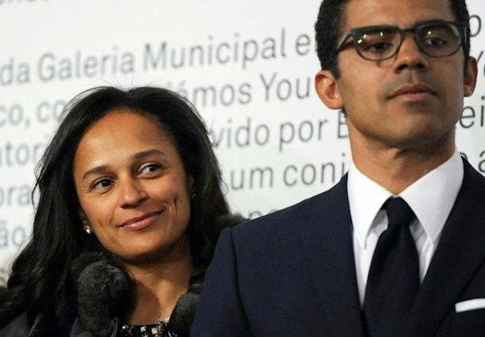 Angolan prosecutors have frozen bank accounts of Isabel dos Santos (L) and her husband Sindika Dokolo as part of their graft probe (AFP Photo/FERNANDO VELUDO)