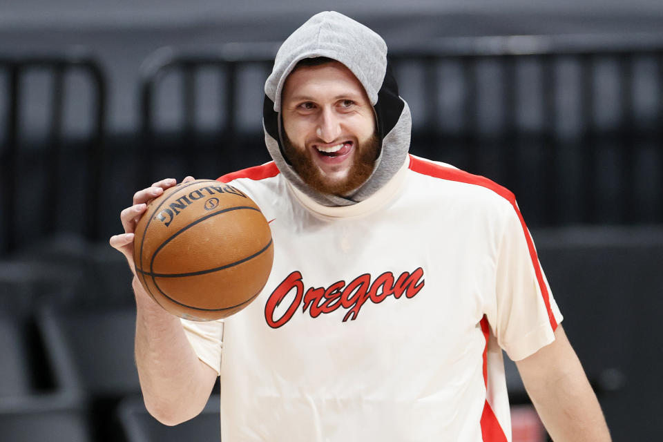 Portland Trail Blazes center Jusuf Nurkic might be the biggest non-star on the 2022 unrestricted free-agency market. (Steph Chambers/Getty Images)
