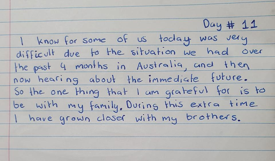 Many of Kofi's gratitude journal entries talk about his family. Source: Facebook