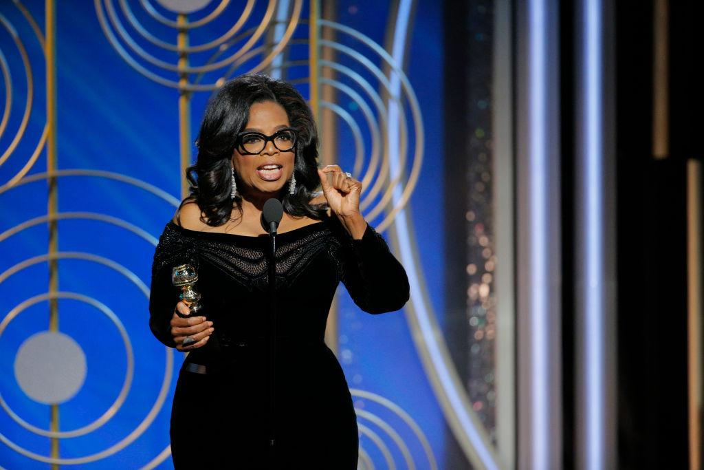 """<p>Calls for Oprah Winfrey to run for President of the United States have flooded social media after the speech she gave at last night's ceremony. After becoming the first black woman to win the Cecil B DeMille Lifetime Achievement award, she declared: """"So I want all the girls watching here, now, to know that a new day is on the horizon!""""<br /><br />Winfrey continued, """"And when that new day finally dawns, it will be because of a lot of magnificent women, many of whom are right here in this room tonight, and some pretty phenomenal men, fighting hard to make sure that they become the leaders who take us to the time when nobody ever has to say 'me too' again."""" And of course, she was met with a standing ovation. <em>[Photo: Getty]</em> </p>"""