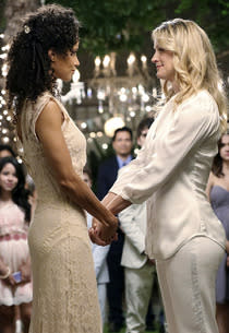 Sherri Sam and Teri Polo | Photo Credits: Adam Taylor/ABC