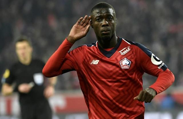 Arsenal's Nicolas Pepe has arrived from Lille to add pace and power on the flanks (AFP Photo/FRANCOIS LO PRESTI)
