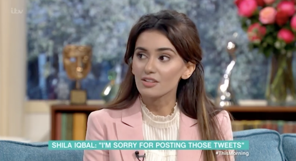 Shila Iqbal described her old offensive tweets as 'banter'