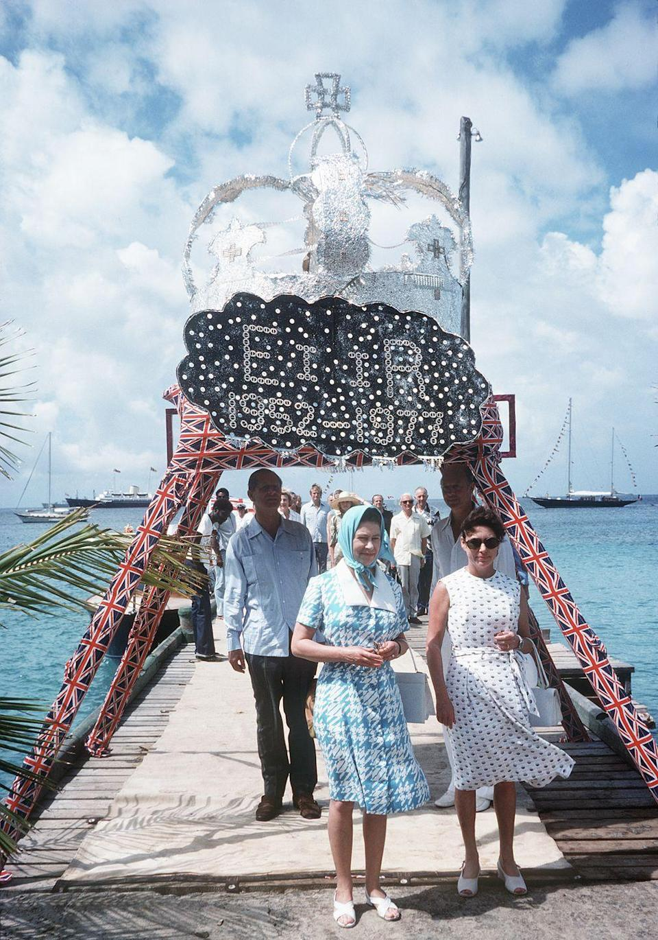 <p>Mustique was Princess Margaret's favorite vacation destination, and the Queen came to visit her there in 1977 after her Silver Jubilee Tour of the West Indies. It's now a favorite vacation spot for William and Kate. </p>
