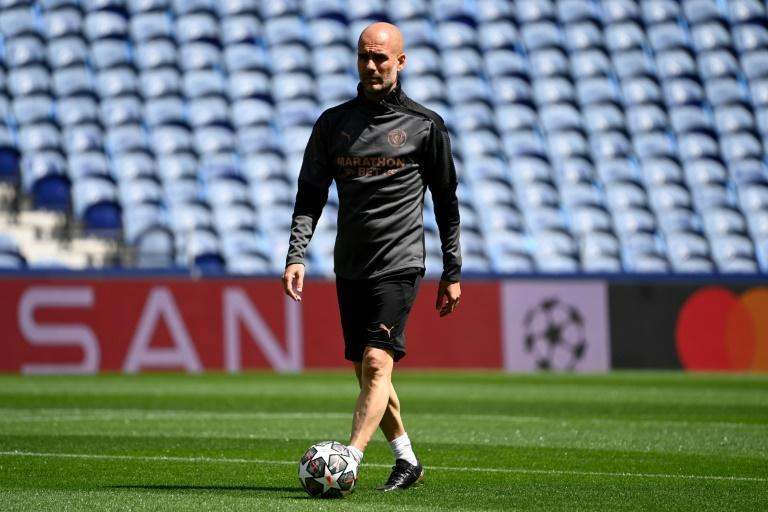 Walk in the park: Pep Guardiola is one game away from becoming the fourth coach to win the Champions League three times