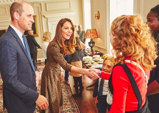 <p>The Kensington Palace Instagram account just recently shared photos from a previously unannounced royal event. Radio 1's Teen Heroes of 2019 visited the Cambridges, and Kate wore a chic printed dress for the occasion.</p>