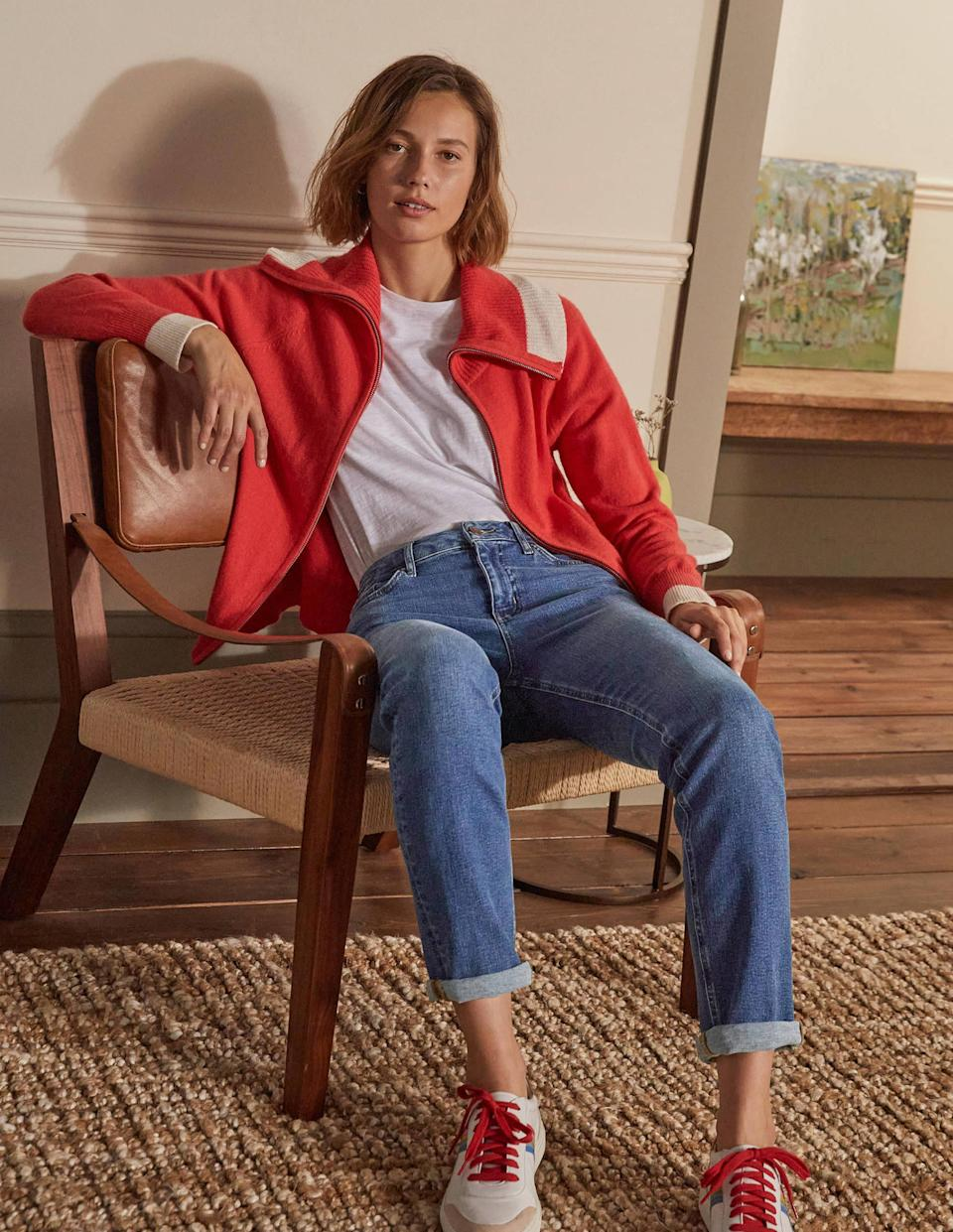 The Slim Straight Jeans come in six shades including a popular vintage mid blue. (Boden)