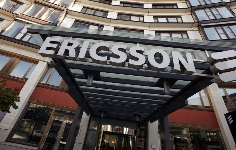 The exterior of Ericsson's headquarters are seen in Stockholm