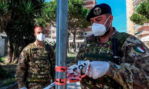 Italy deploys soldiers to town housing quarantined migrants