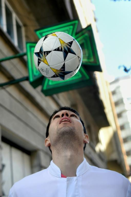 Working in the family pharmacy has replaced football for Toni Dovale (AFP Photo/MIGUEL RIOPA)