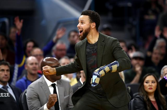 Stephen Curry and the Warriors might have different feelings about his return. (Ezra Shaw/Getty Images)