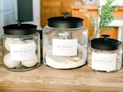 <p>With sleek labels, this <span>Laundry Room Decor</span> ($5) will dress up their space in no time.</p>