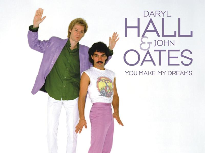 The cover art for the pair's hit 1981 single 'You Make My Dreams'RCA