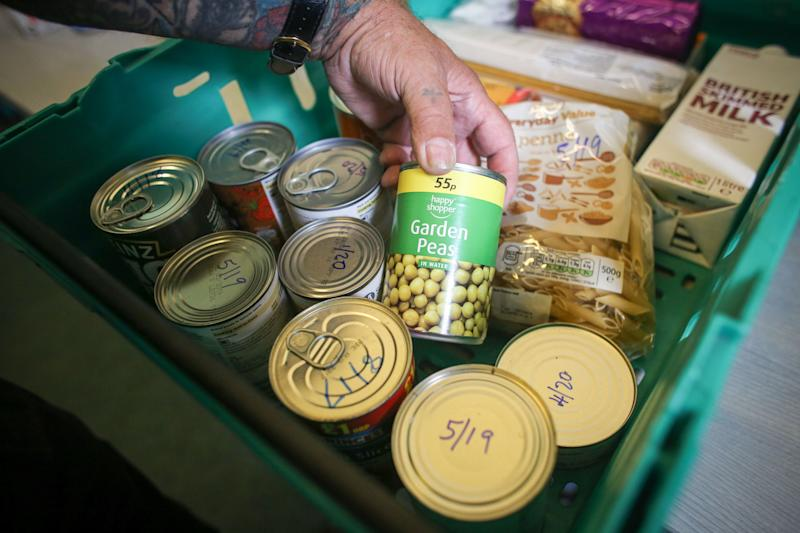 CAMBORNE, UNITED KINGDOM - JULY 25: Food stocks from the charity Transformation CPR are seen at the foodbank being run at the Camborne Centenary Methodist Church in Camborne on July 25, 2017 in Cornwall, England. Transformation CPR is run by local churches and oversees and develops social care projects in the Camborne, Pool and Redruth area in partnership with other agencies. The foobank is currently providing between 8000 and 10,000 meals every month to people who cannot afford to feed themselves and their families. Figures released by Eurostat in 2014 named the British county of Cornwall as one of Europe's top ten poverty areas falling behind Poland, Lithuania and Hungary. Average wages were £14,300 compared with the UK national figure of £23,300 and £20,750 across Europe. UK government statistics show almost a quarter of people living in the Camborne, Pool and Redruth (CPR) area of Cornwall are in one of the most deprived areas of England with the highest level of childhood obesity, almost a quarter of children aged under 16 living in poverty and the lowest life expectancy. The area, which has long suffered from severe industrial decline with the demise of the copper and tin mining industries, has not shared in the wealth created in nearby tourist havens such as Newquay, Padstow and St Ives. Cornwall is the only UK county to have previously received emergency funding from the European Union (EU) and was one of the major beneficiaries of the UK's membership of the EU due to the large amount of funding made available through the EUs Objective One and Convergence programmes. Despite this voters overwhelmingly backed the campaign to leave the European Union in the June 2016 referendum. (Photo by Matt Cardy/Getty Images)