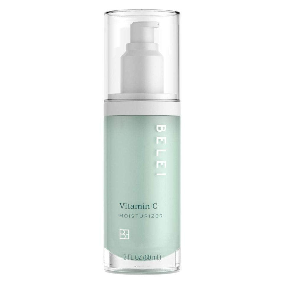 """<h3><h2>Vitamin C Moisturizer</h2></h3><br>""""The moisturizer is very lightweight and it's perfect if you're someone like me, who has to layer on loads of sunscreen after applying moisturizer. The hyaluronic acid keeps my face feeling super supple, smooth, and hydrated. Dark spots and inflammation are my key skin concerns and I've also noticed gradual fading away of my acne scarring."""" — Richardson<br><br><strong>Belei</strong> Vitamin C Moisturizer, $, available at <a href=""""https://amzn.to/3vvk9Rb"""" rel=""""nofollow noopener"""" target=""""_blank"""" data-ylk=""""slk:Amazon"""" class=""""link rapid-noclick-resp"""">Amazon</a>"""