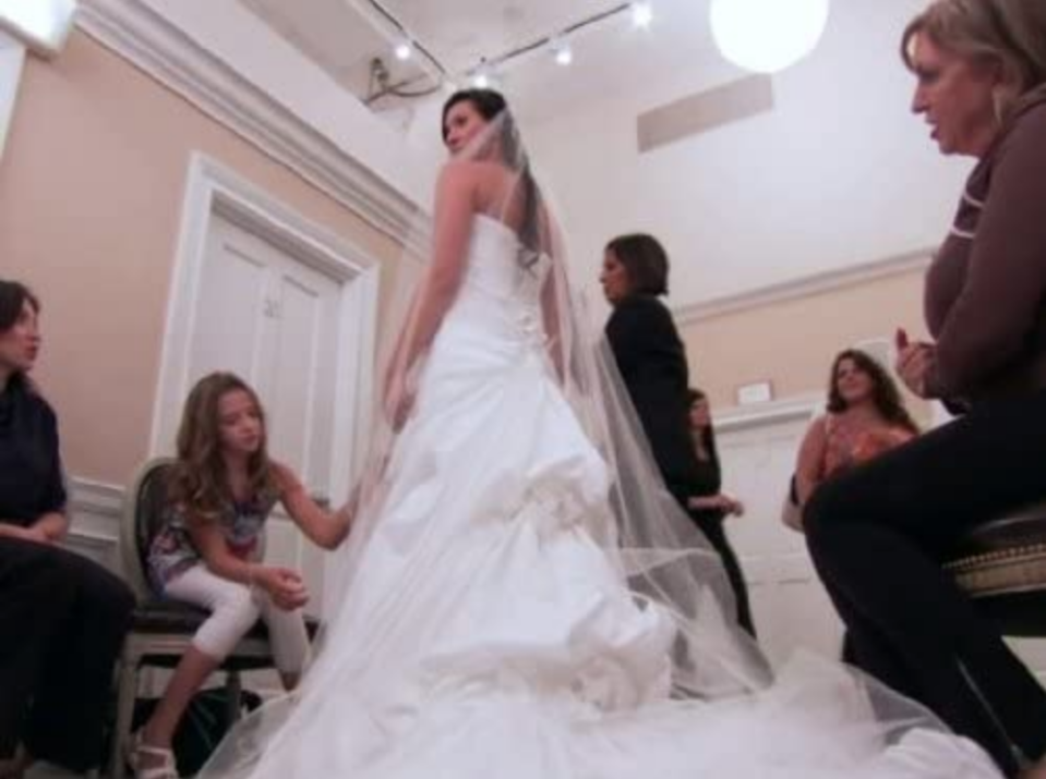 """<p>Brides who dream of appearing on the TLC show must <a href=""""https://www.goodhousekeeping.com/life/entertainment/a30457738/say-yes-to-the-dress-tlc-behind-the-scenes-secrets/"""" rel=""""nofollow noopener"""" target=""""_blank"""" data-ylk=""""slk:submit an online application"""" class=""""link rapid-noclick-resp"""">submit an online application</a> with personal questions about their wedding, dress style, and soon-to-be hubby. But process is incredibly selective, as the show <a href=""""https://www.goodhousekeeping.com/life/entertainment/a30457738/say-yes-to-the-dress-tlc-behind-the-scenes-secrets/"""" rel=""""nofollow noopener"""" target=""""_blank"""" data-ylk=""""slk:gets over a thousand applications per season"""" class=""""link rapid-noclick-resp"""">gets over a thousand applications per season</a>.</p>"""