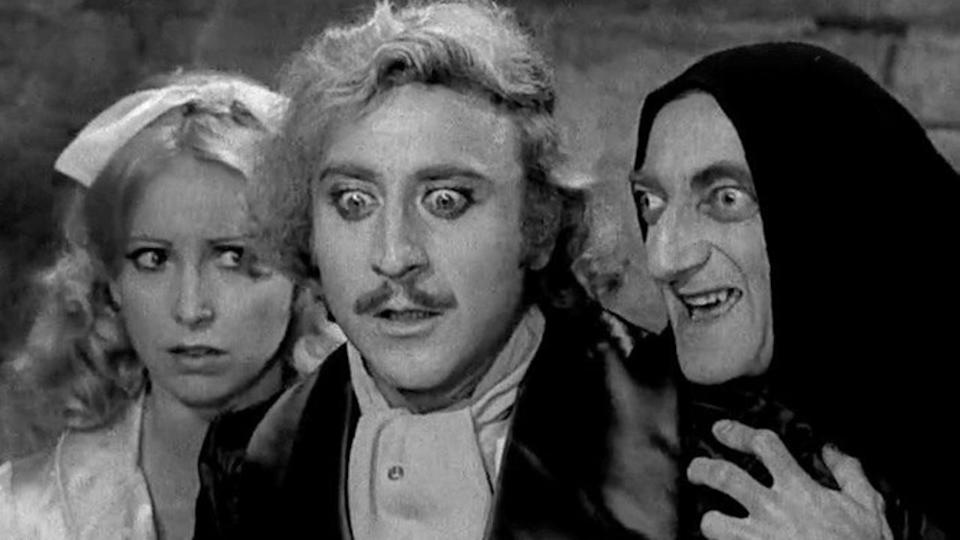 <p> As absurd a premise as you're likely to find on this list: Young Frankenstein features Gene Wilder as Frankenstein's grandson as he takes over his grandfather's estate, despite wanting to have nothing to do with the family name. </p> <p> It takes the hallmarks of any classic Mel Brooks film (lightning-fast joke deliveries and long-running gags that flit between funny, not funny, and back to being side-splittingly good) and adds in the comic timing Peter Boyle as Frankenstein's monster to expertly lampoon classic horror. </p>