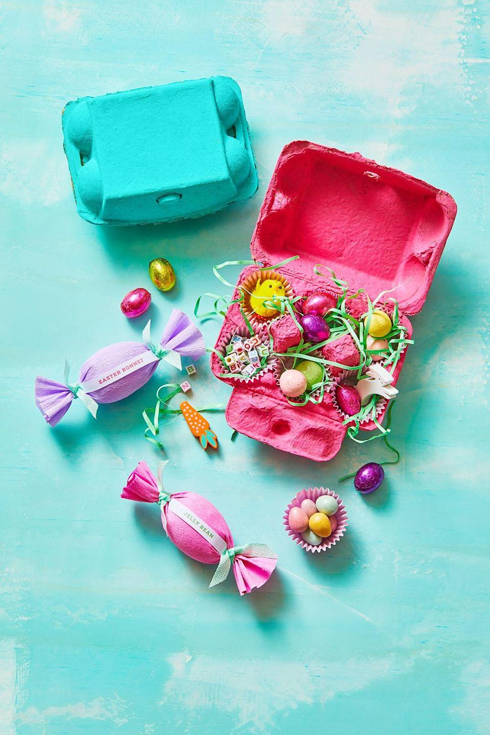 """<p>On Easter Sunday, everyone is more concerned about everything that's tucked inside their baskets than the baskets themselves. While it may be hard to compete with <a href=""""https://www.goodhousekeeping.com/holidays/easter-ideas/g1034/easter-chocolate-eggs/"""" rel=""""nofollow noopener"""" target=""""_blank"""" data-ylk=""""slk:chocolate eggs"""" class=""""link rapid-noclick-resp"""">chocolate eggs</a>, jelly beans, and sugary-sweet <a href=""""https://www.goodhousekeeping.com/holidays/easter-ideas/g26588643/best-easter-basket-stuffers/"""" rel=""""nofollow noopener"""" target=""""_blank"""" data-ylk=""""slk:basket stuffers"""" class=""""link rapid-noclick-resp"""">basket stuffers</a>, these fun Easter basket ideas will still find a way to grab everyone's attention. Most of the homemade baskets on this list are embellished with seasonal decorations — faux flowers, pastel eggs, and bunny faces — but there are also some ideas tailored specifically for different interests and age groups, including toddlers, babies, kids, teens, and adults. There's also a basket for every skill level and price point, whether you're looking to build a basket from nothing (a <a href=""""https://www.goodhousekeeping.com/holidays/easter-ideas/a31116749/diy-paper-easter-basket/"""" rel=""""nofollow noopener"""" target=""""_blank"""" data-ylk=""""slk:woven paper basket"""" class=""""link rapid-noclick-resp"""">woven paper basket</a>) or for simple ways to spruce up a boring wicker basket stashed away in your closet. In the end, the goal is the same: to craft a basket that your friends and family will want to re-use in the years ahead.</p><p>But you're not done the minute you put your craft supplies away. Then it's time to become the Easter Bunny and find adorable fillers, <a href=""""https://www.goodhousekeeping.com/holidays/easter-ideas/g1027/10-easter-baskets-and-fillers/"""" rel=""""nofollow noopener"""" target=""""_blank"""" data-ylk=""""slk:kid-approved gifts"""" class=""""link rapid-noclick-resp"""">kid-approved gifts</a>, and <a href=""""https://www.goodhousekeeping.com/holidays/easter-ideas/g31229341"""