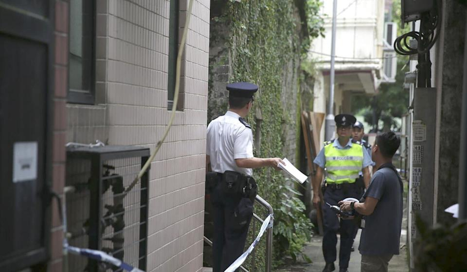 Police investigate the death of three-month-old baby girl found in a village house in Lok Ma Chau in August of 2018. Photo: Handout