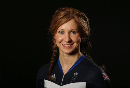 Britain Cycling - Team GB - Rio 2016 Cycling Team Media Session - Celtic Manor, Wales - 25/7/16 Joanna Rowsell Shand of Team GB poses for a photo Action Images via Reuters / Matthew Childs Livepic