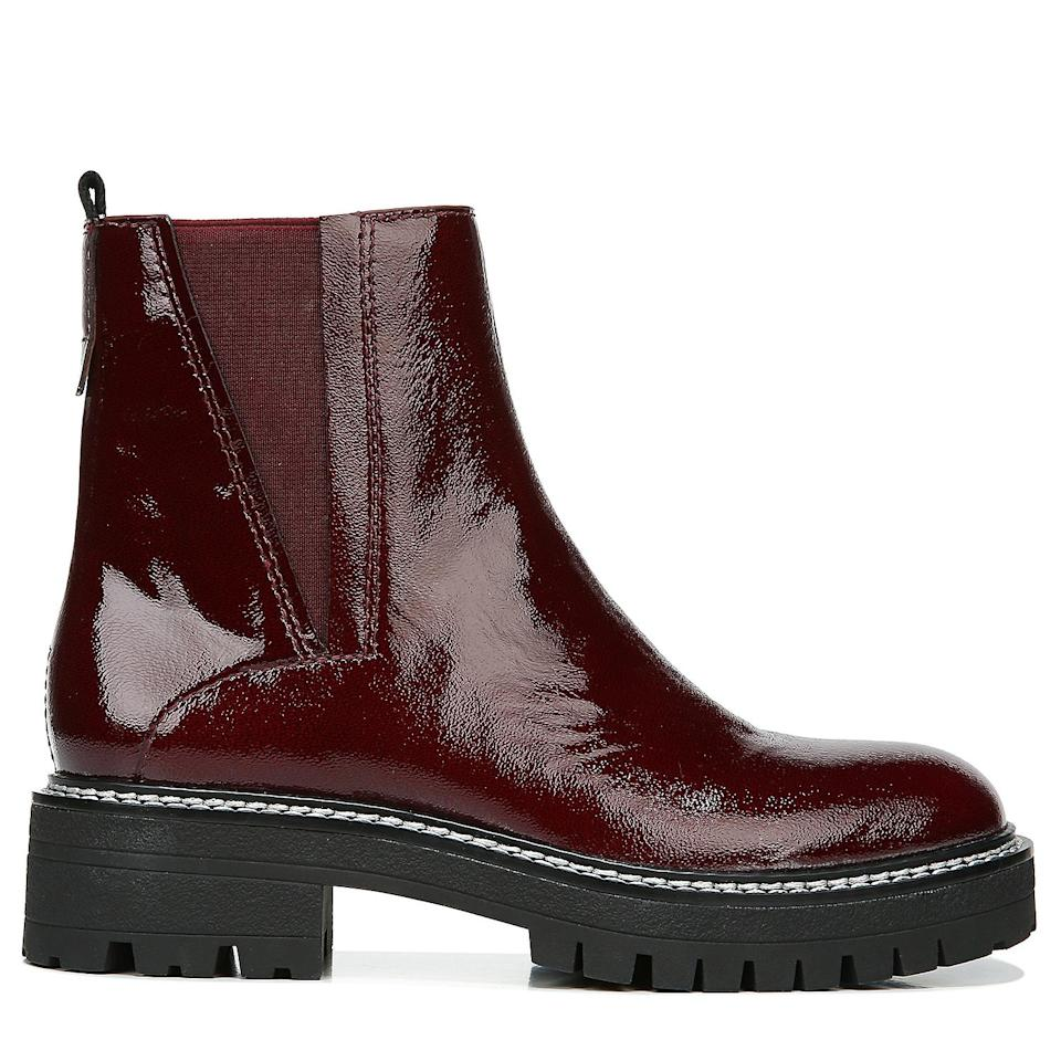 """<p>A chunky bottom lends a cool vibe to the classic pull-on<strong><br></strong></p> <p><strong>Buy It!</strong> <em>Similar:</em> <a href=""""https://www.francosarto.com/product/womens-franco-seri-ankle-boot-5264755/bordeaux-leather-07501"""" rel=""""nofollow noopener"""" target=""""_blank"""" data-ylk=""""slk:&quot;Seri&quot; Boot, $159; francosarto.com"""" class=""""link rapid-noclick-resp"""">""""Seri"""" Boot, $159; francosarto.com</a></p>"""
