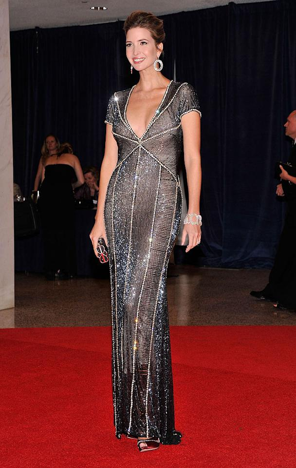 "<p class=""MsoNoSpacing"">A guest of Politico, Ivanka Trump sparkled from head to toe in a gorgeous embellished gown. </p>"