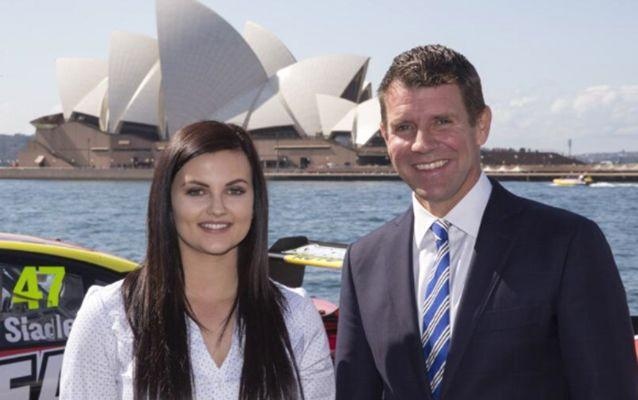 Renee Gracie, pictured with Mike Baird in August, is thrilled to be part of the first female drive team to hit Mount Panorama in years. Source: Getty.