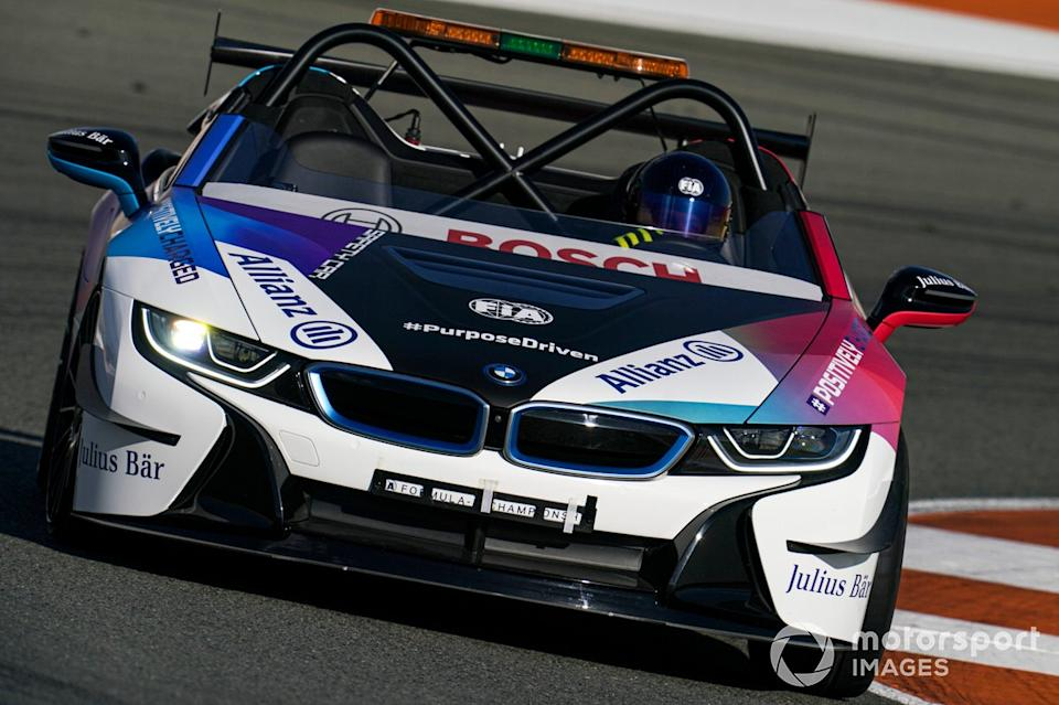 """BMW i8 Safety car<span class=""""copyright"""">Malcolm Griffiths / Motorsport Images</span>"""