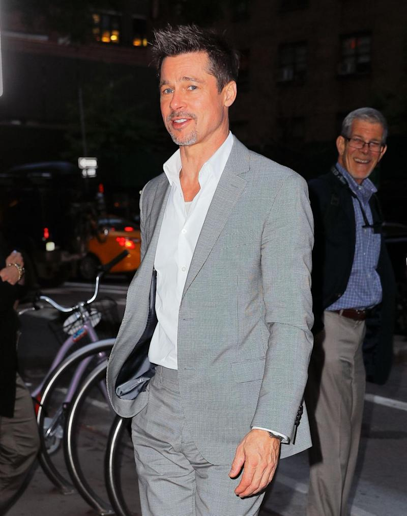 Following reports Brad Pitt, pictured here in NYC in 2017, and Jennifer Aniston have reunited, it seems there's another woman in Brad's life who has got her eye on him. Source: Getty