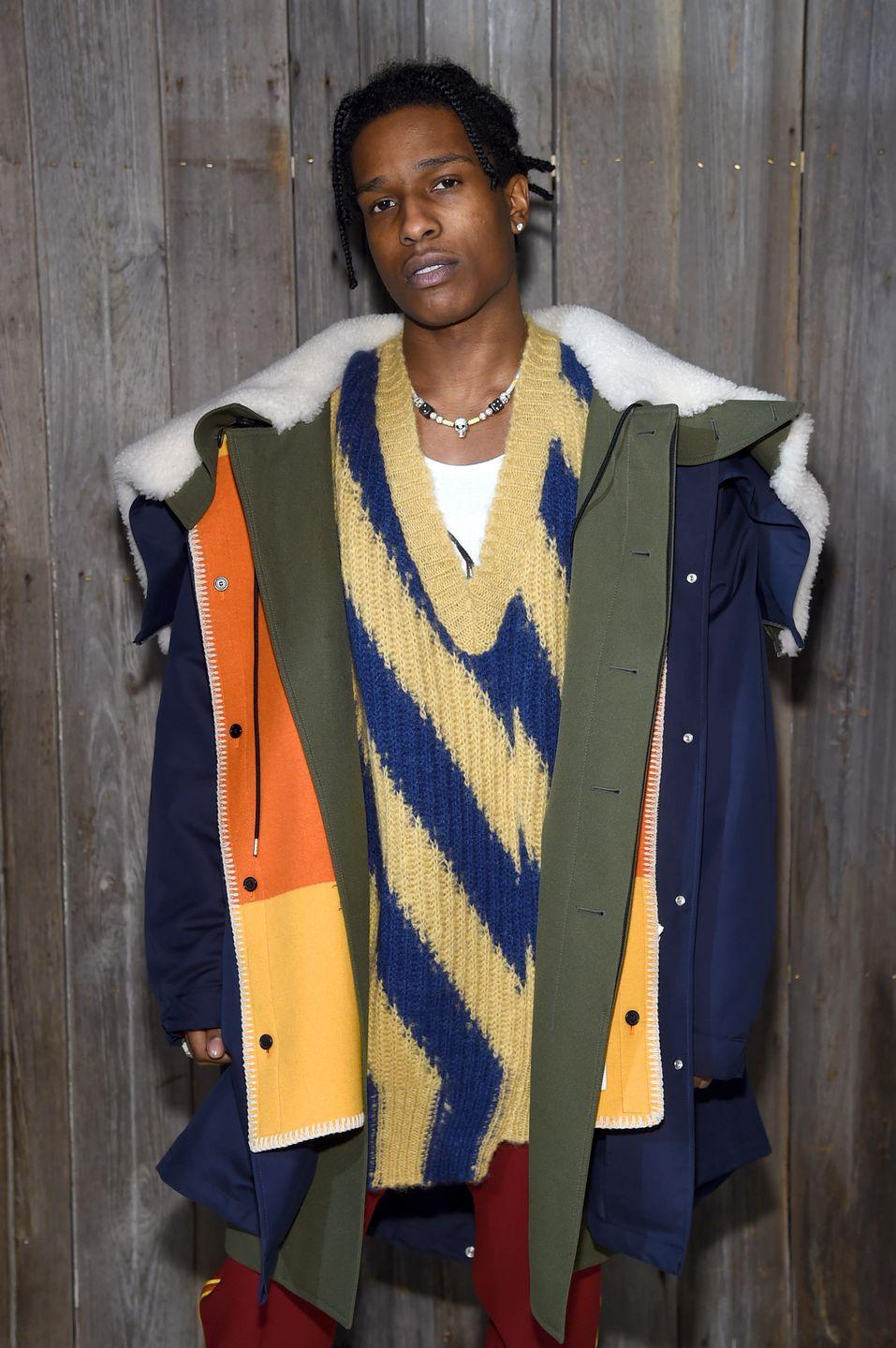 "<p>In June 2019, TMZ <a href=""https://www.tmz.com/2019/07/01/asap-rocky-crew-jumps-guy-beatdown-stockholm-sweden/"" rel=""nofollow noopener"" target=""_blank"" data-ylk=""slk:released a video"" class=""link rapid-noclick-resp"">released a video</a> showing that A$AP Rocky got into a street fight while in Sweden. Days later, Rocky was detained for a ""suspected attack"" by a Swedish court, although Rocky maintained he was acting in self-defense. His detainment and arrest attracted the attention of everyone from Kim Kardashian to Donald Trump, who warned Sweden of ""negative consequences"" if they didn't release Rocky from prison. Although Rocky was <a href=""https://www.nbcnews.com/news/world/asap-rocky-found-guilty-assault-spared-jail-swedish-trial-drew-n1042126"" rel=""nofollow noopener"" target=""_blank"" data-ylk=""slk:found guilty"" class=""link rapid-noclick-resp"">found guilty</a>, he wasn't given any jail time.</p>"
