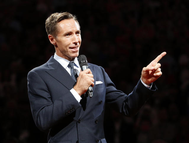 Steve Nash is a part-time consultant for Golden State. (AP)