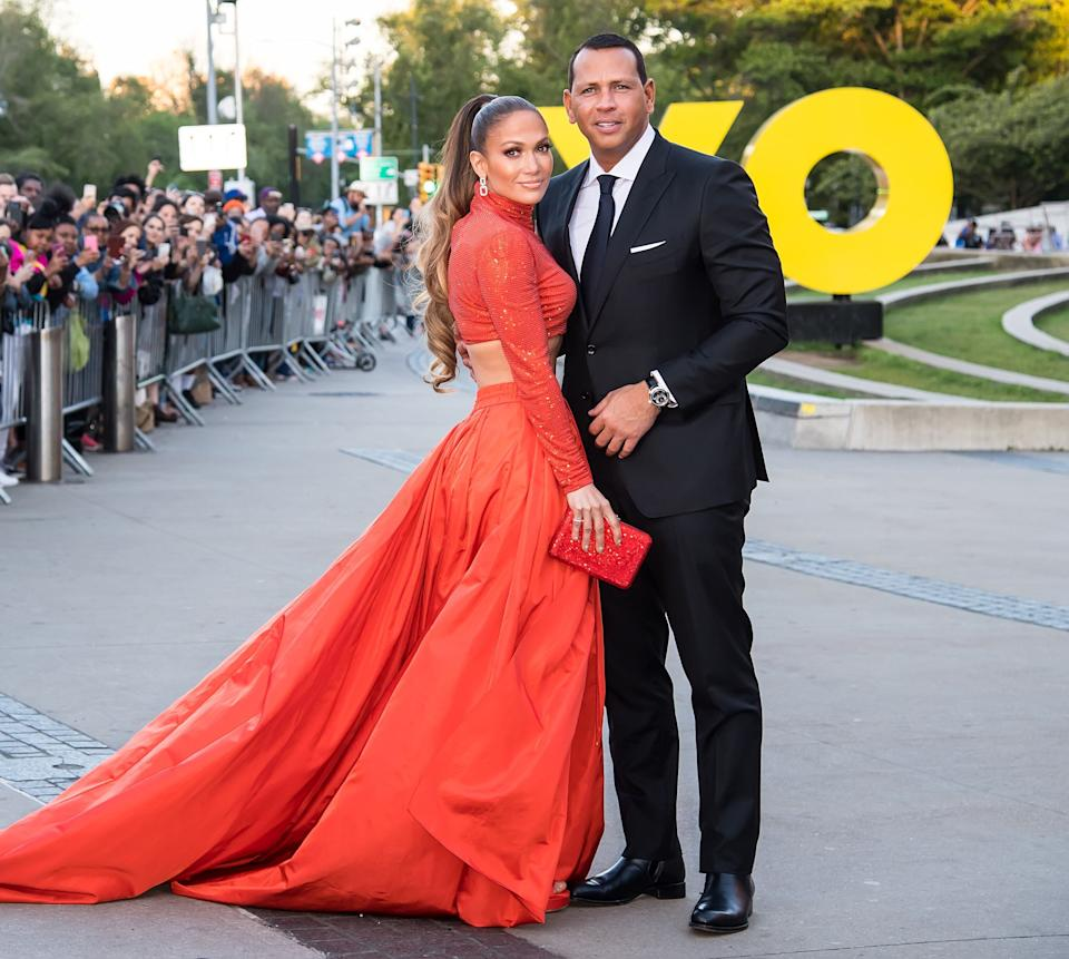 Jennifer Lopez and Alex Rodriguez pictured in 2019 (Photo: Gilbert Carrasquillo via Getty Images)
