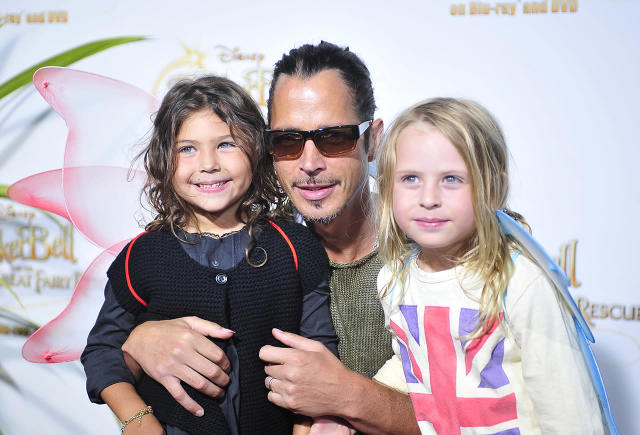 "<p>Chris Cornell and kids attend picnic-in-the-park premiere Of ""Tinkerbell"" at La Cienega Park on August 28, 2010 in Beverly Hills, California.<br>(Photo by Arun Nevader/WireImage) </p>"