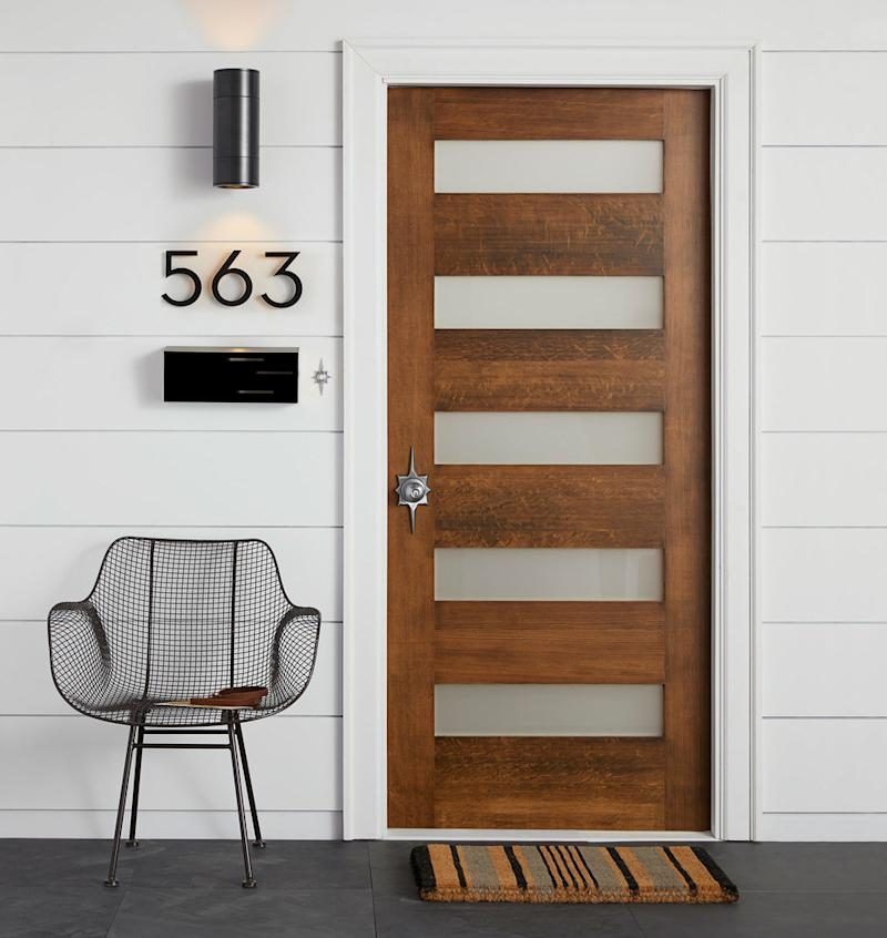 Make a sleek statement with new house numbers. (Photo: Rejuvenation)